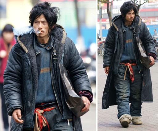 Bro Xili, unbekannter Obdachloser wird zur Mode-Ikone